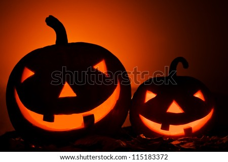 halloween pumpkin isolated on black