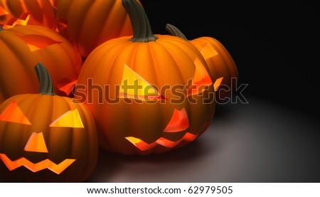 Halloween Pumpkins - stock photo