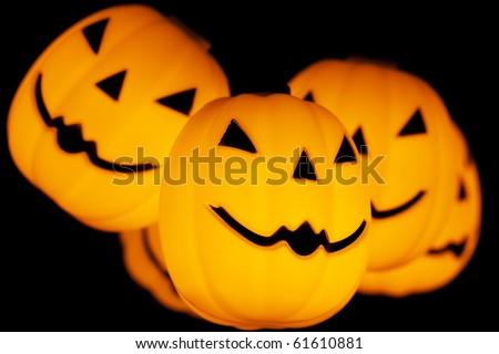 Halloween Pumpkins Decoration. - stock photo