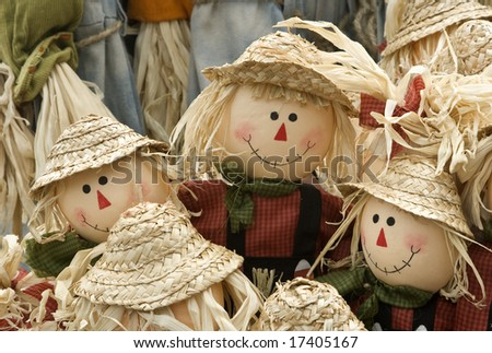 Halloween scarecrow - stock photo