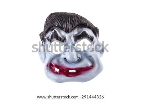 Halloween scary mask isolated on white background - stock photo