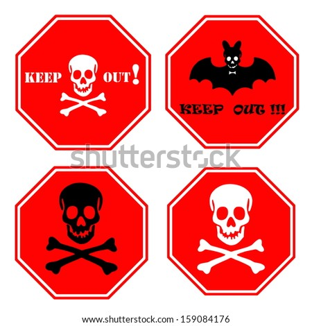 Halloween signpost collection - stock photo