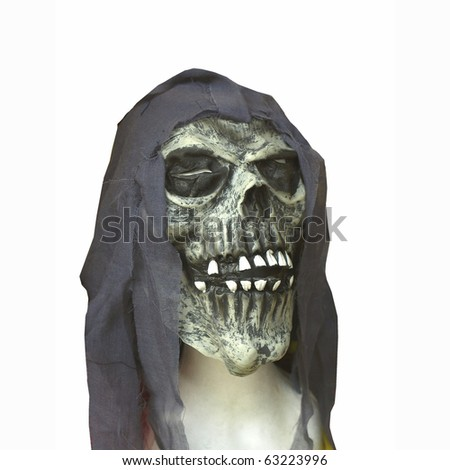 Halloween skull representing mask of the death