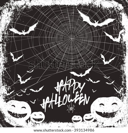 Halloween themed party flyer. Raster version. - stock photo