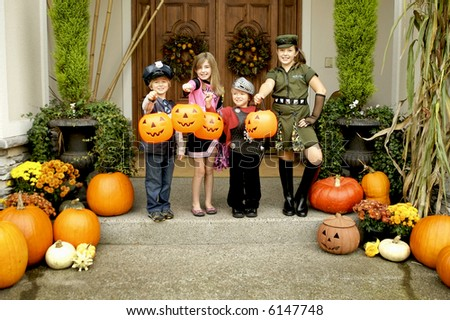 Halloween Trick or treating - stock photo