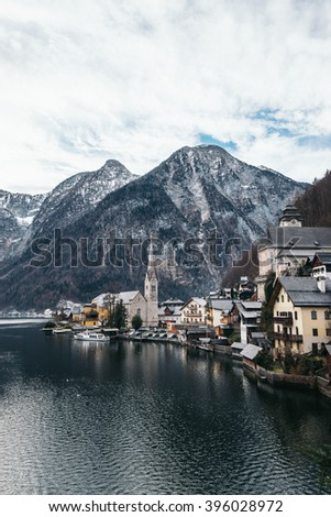 Hallstatt  by Salzburg, Austria, traditional austrian wood village, UNESCO world culture heritage site