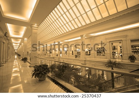 Hallway in modern shopping center