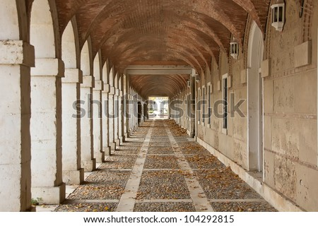 Hallway in Royal Palace of Aranjuez (Spain)