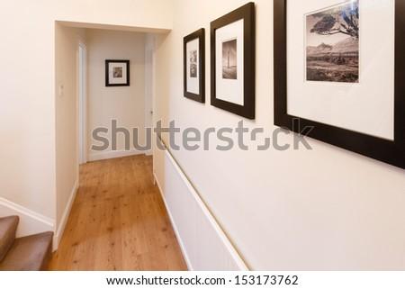 Hallway interior - stock photo