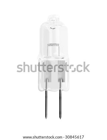 halogen bulb isolated - stock photo