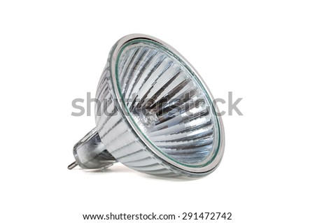 Halogen lamp isolated on white background with clipping path - stock photo