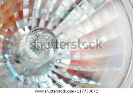 Halogen Light Bulb Close-Up - stock photo