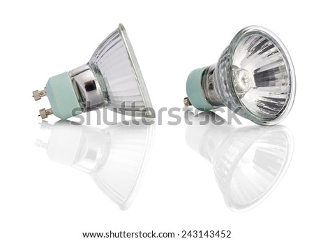 Halogen Lights bulb technology with two path, one for right and one for left side - stock photo