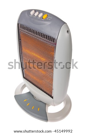 Halogen or Infrared heater isolated on a white background
