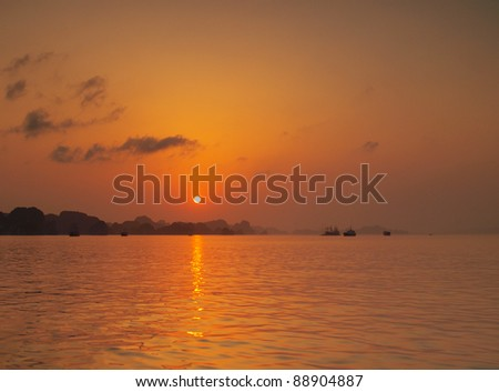 Halong Bay, Hanoi Vietnam and its spectacular view - stock photo