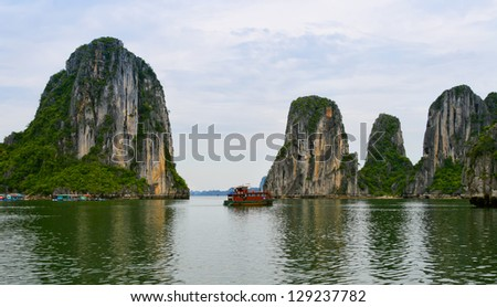 Halong Bay ,Vietnam - stock photo