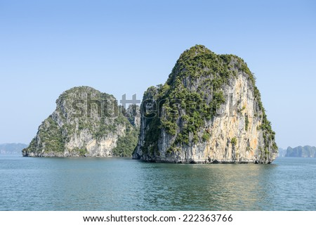 Halong bay, Vietnam. UNESCO World Heritage - stock photo