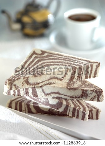 halva with cacao - stock photo