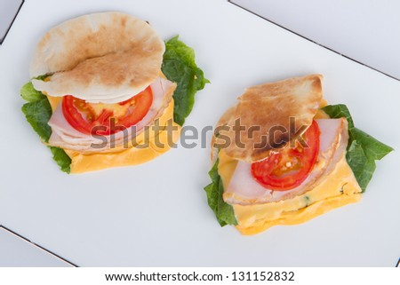 ham and cheese bread - stock photo
