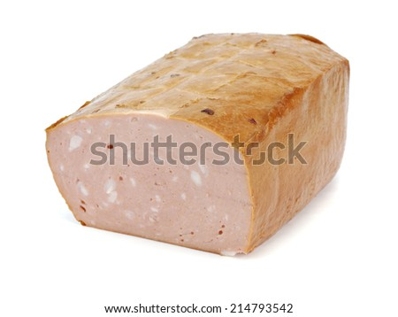 Ham on a white background - stock photo