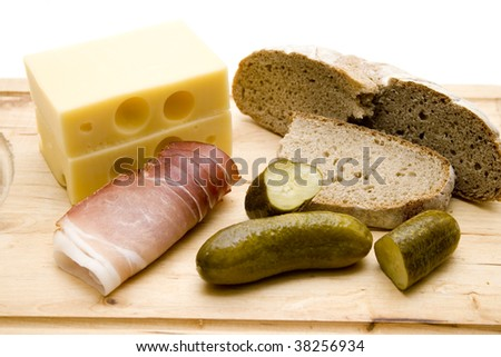 Ham with cheese