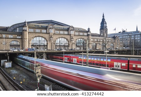 Hamburg Main Station  - stock photo