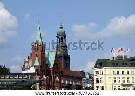 hamburg northern germany - stock photo