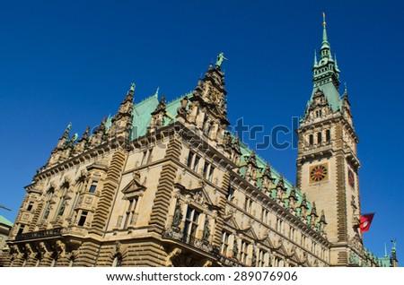 Hamburg Rathaus, Germany - stock photo