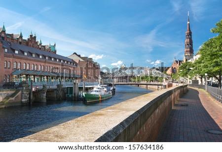 Hamburg St Catherine church - stock photo