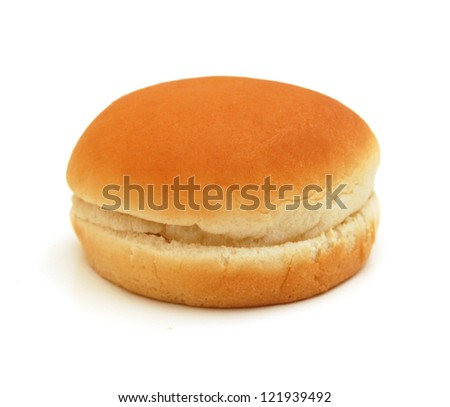 Hamburger bun isolated on white background
