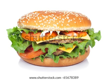 hamburger isolated on white