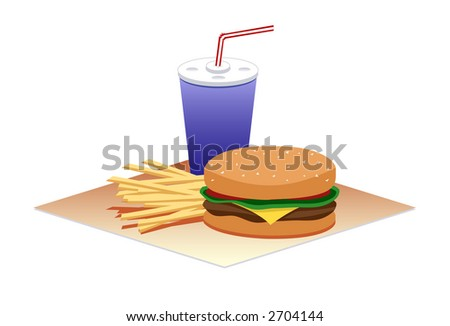 Hamburger Time - stock photo
