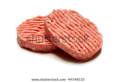 hamburger with clipping path - stock photo