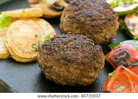 Hamburger with Vegetable