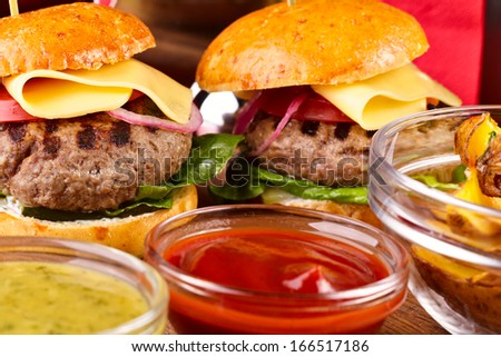 Hamburgers - stock photo