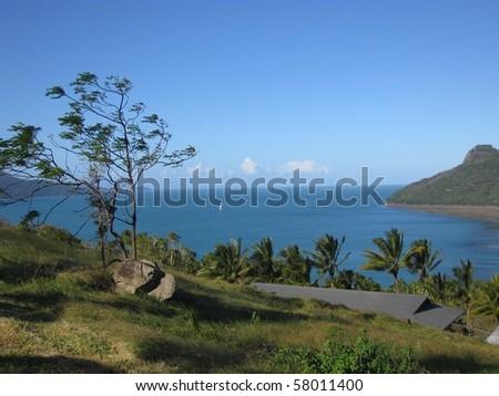 Hamilton island lookout - stock photo