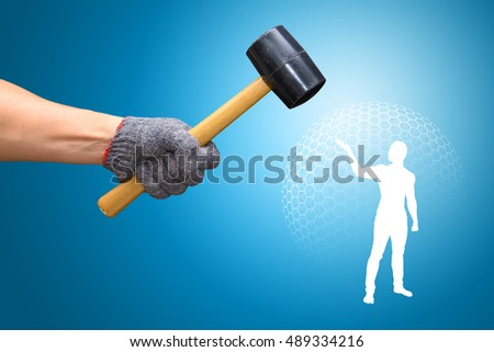 Hammer Against the Man with barrier