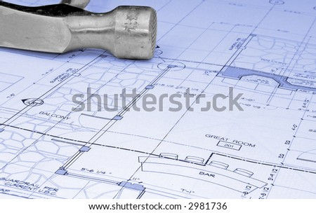 hammer and plans