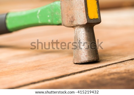 hammer and wooden - stock photo