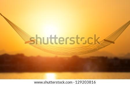 hammock - stock photo