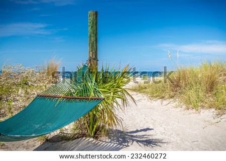 Hammock on St. Pete beach, Florida, USA - stock photo