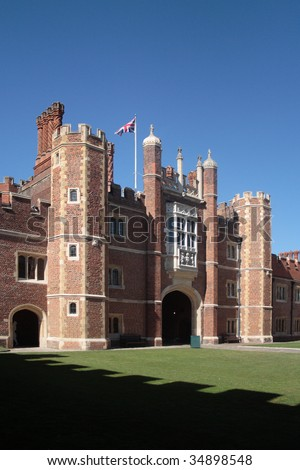 Hampton Court Palace, Richmond upon Thames, South West London - stock photo