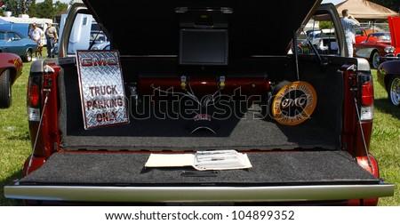 HAMPTON, VA-JUNE 9:A GMC Sanoma Truck at the 3rd annual HCS car show at the Hampton Christian School in Hampton Virginia, 2012 in Hampton Virginia on June 9, 2012. - stock photo