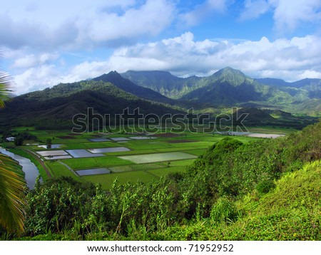 Hanalei Lookout, Kauai, Hawaii - stock photo