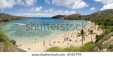 Hanauma Bay Hawaii - stock photo
