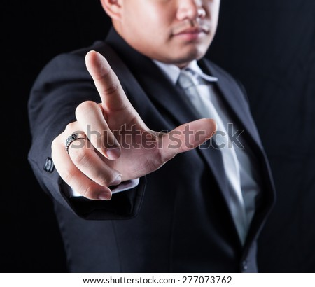 hand and finger of business man use for business conceptual theme