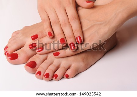 hand and foot - stock photo
