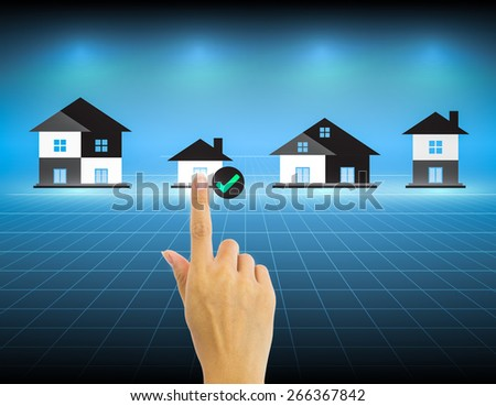Hand and investment sign with dark background. - stock photo