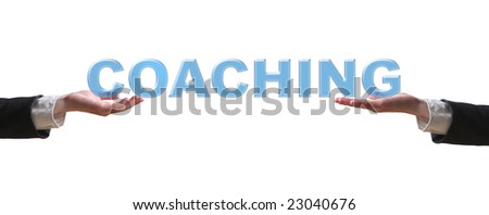 Hand and the word - business concept - stock photo