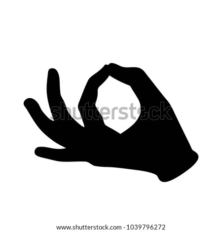 Hand Black Symbol Mudra Jnana Mantra Stock Illustration 1039796272